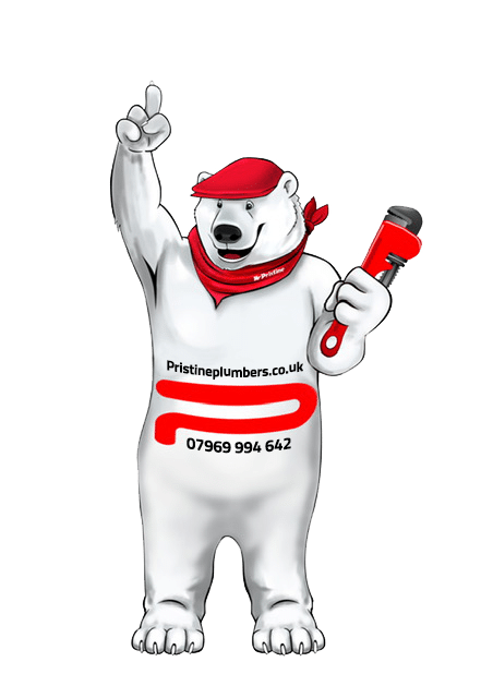 Pristine Plumbers Polar Bear With Stilsons - Tel. 07969 994 642